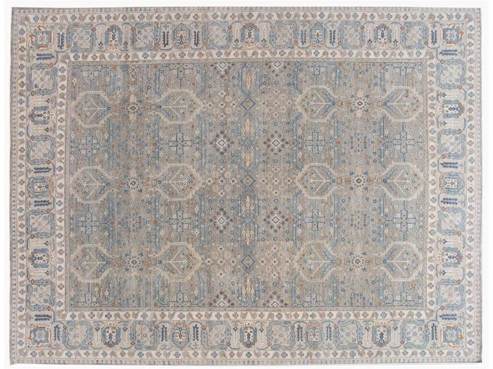 21st Century Contemporary Wilton Indian Wool Rug 12 X 16