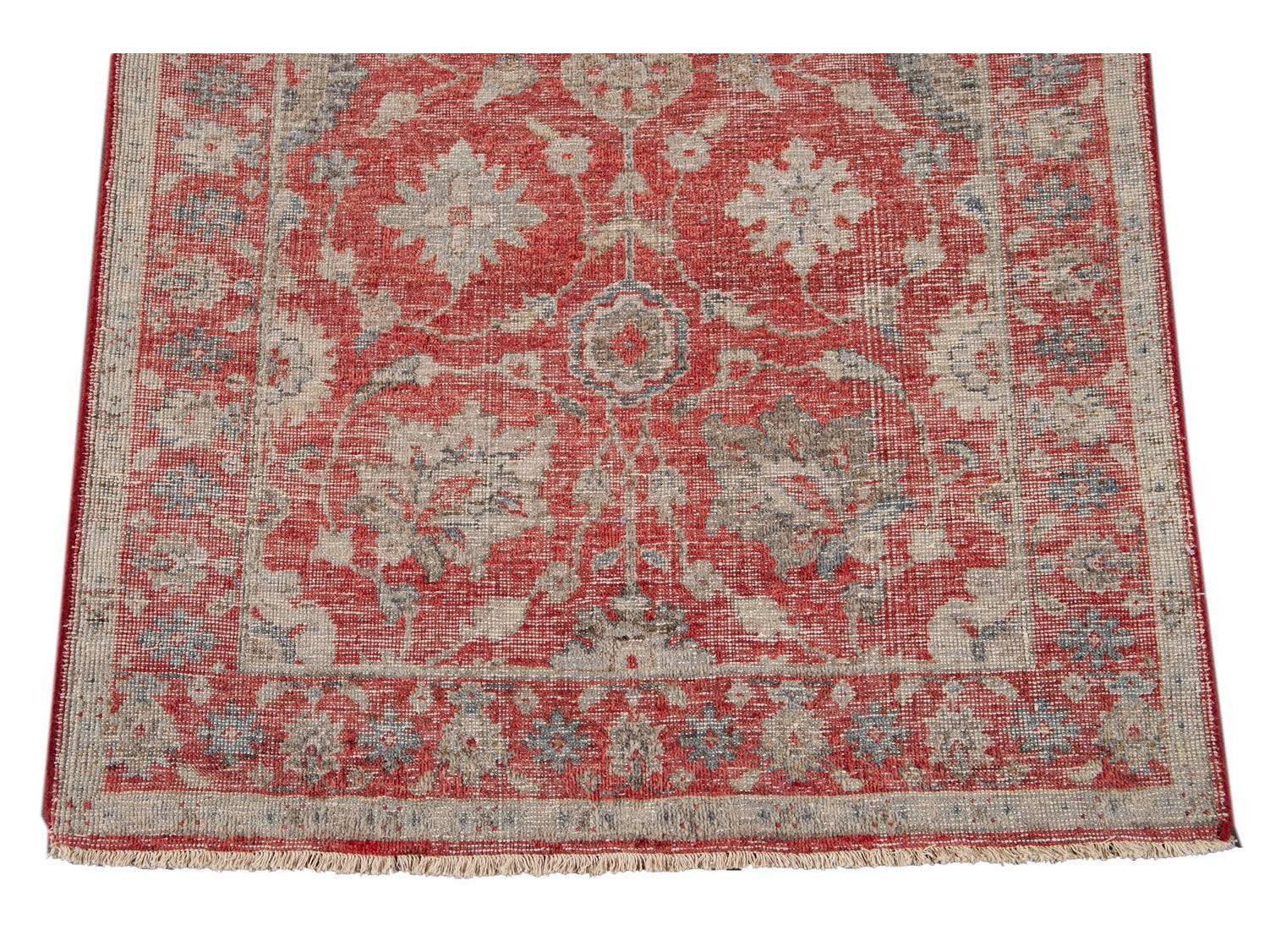 21st Century Contemporary Tabriz Style Wool Runner 3 X 19