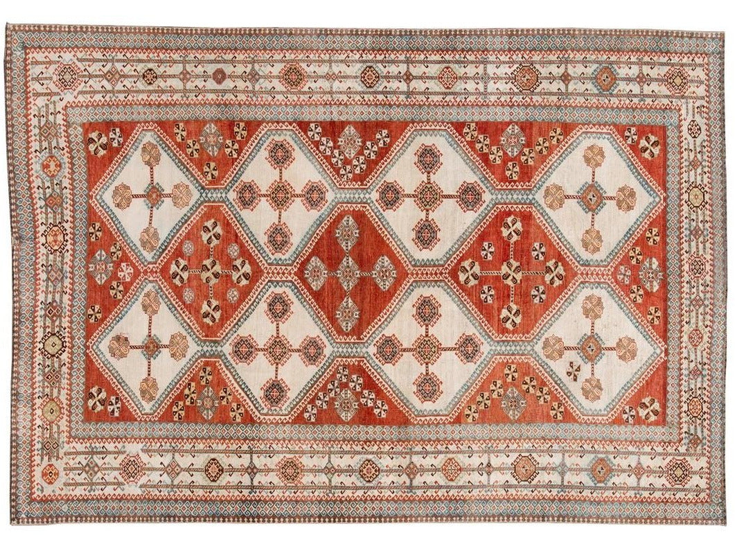 Early 20th Century Antique Afshar Wool Rug 7 X 11