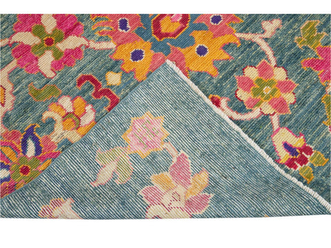 New Contemporary Oushak Colorful Wool Rug 11 X 16
