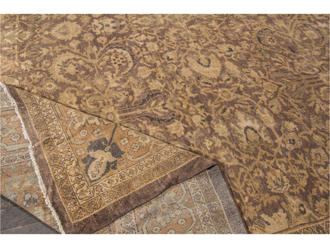 Antique Sultanabad Wool Rug 13 X 22