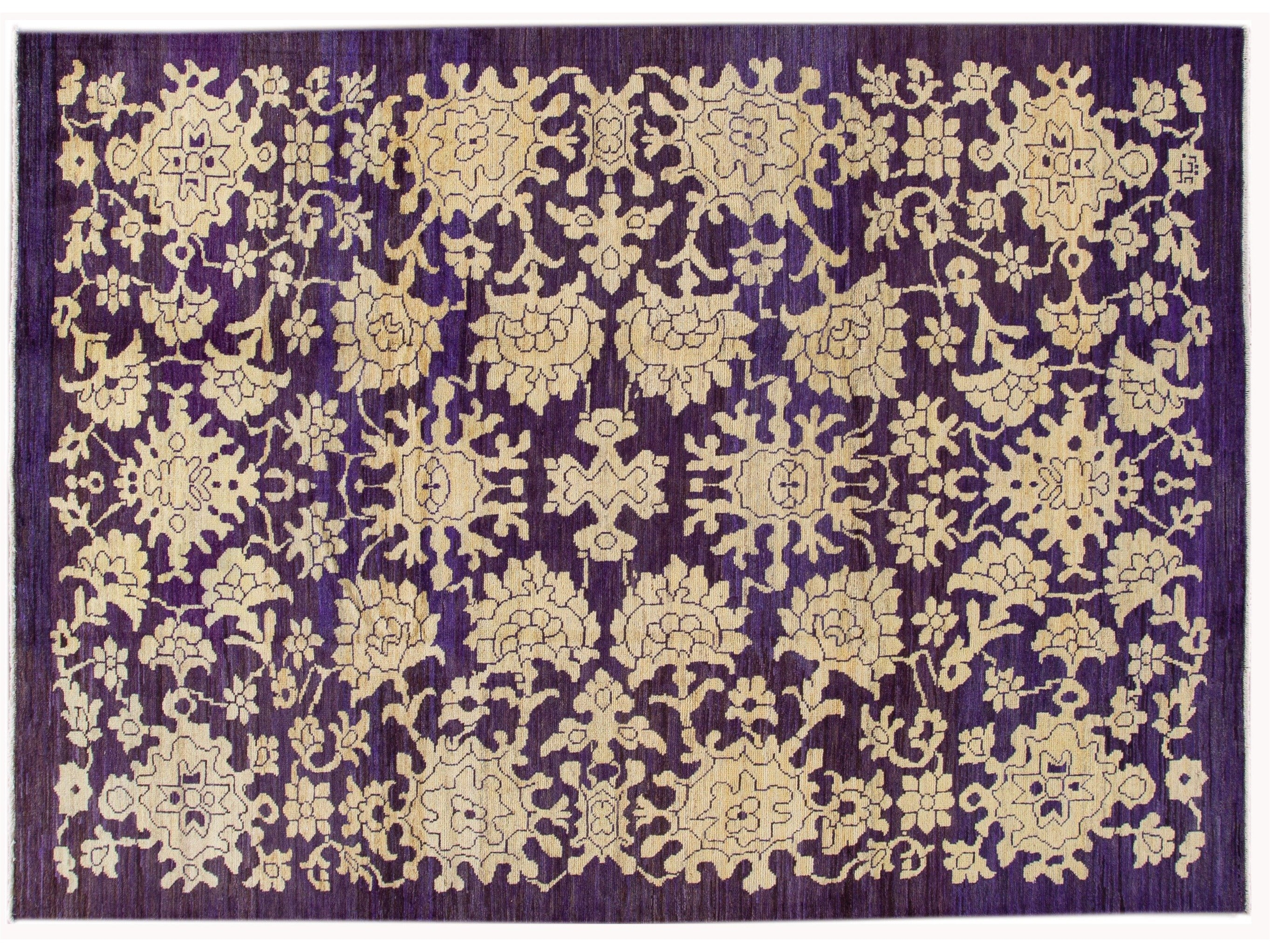 New Contemporary Oushak Colorful Wool Rug 8 X 11