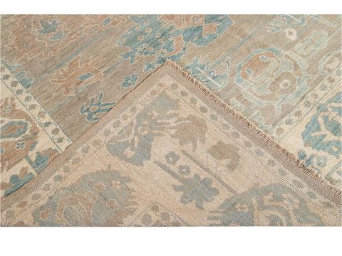 21st Century Contemporary Sultanabad Wool Rug 10 X 14