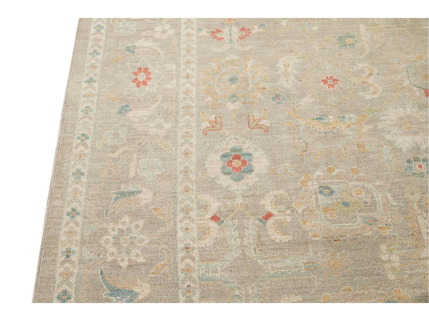 Contemporary Sultanabad Wool Rug 10 X 12