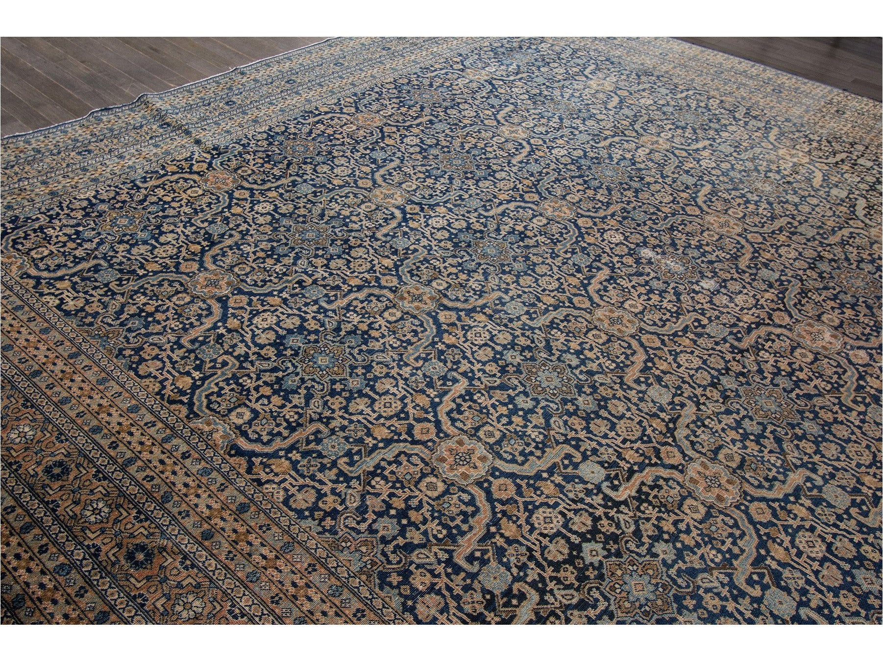 Breathtaking Antique Persian Tabriz Rug 12 X 19