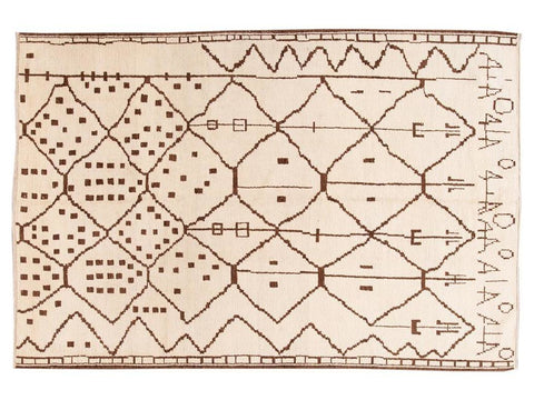 21st Century Contemporary Moroccan Tribal Wool Rug 9 X 13