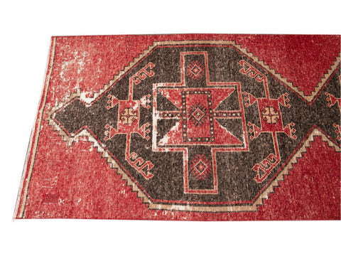 Vintage Turkish Geometric Wool Runner 3 X 11