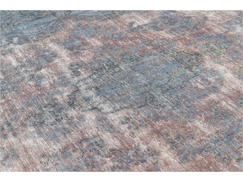Mid 20th Century Vintage Distressed Wool Rug 10 X 13
