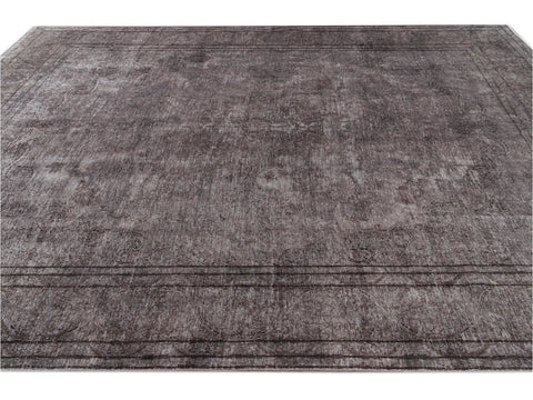 Mid 20th Century Vintage Distressed Wool Rug 10 X 14