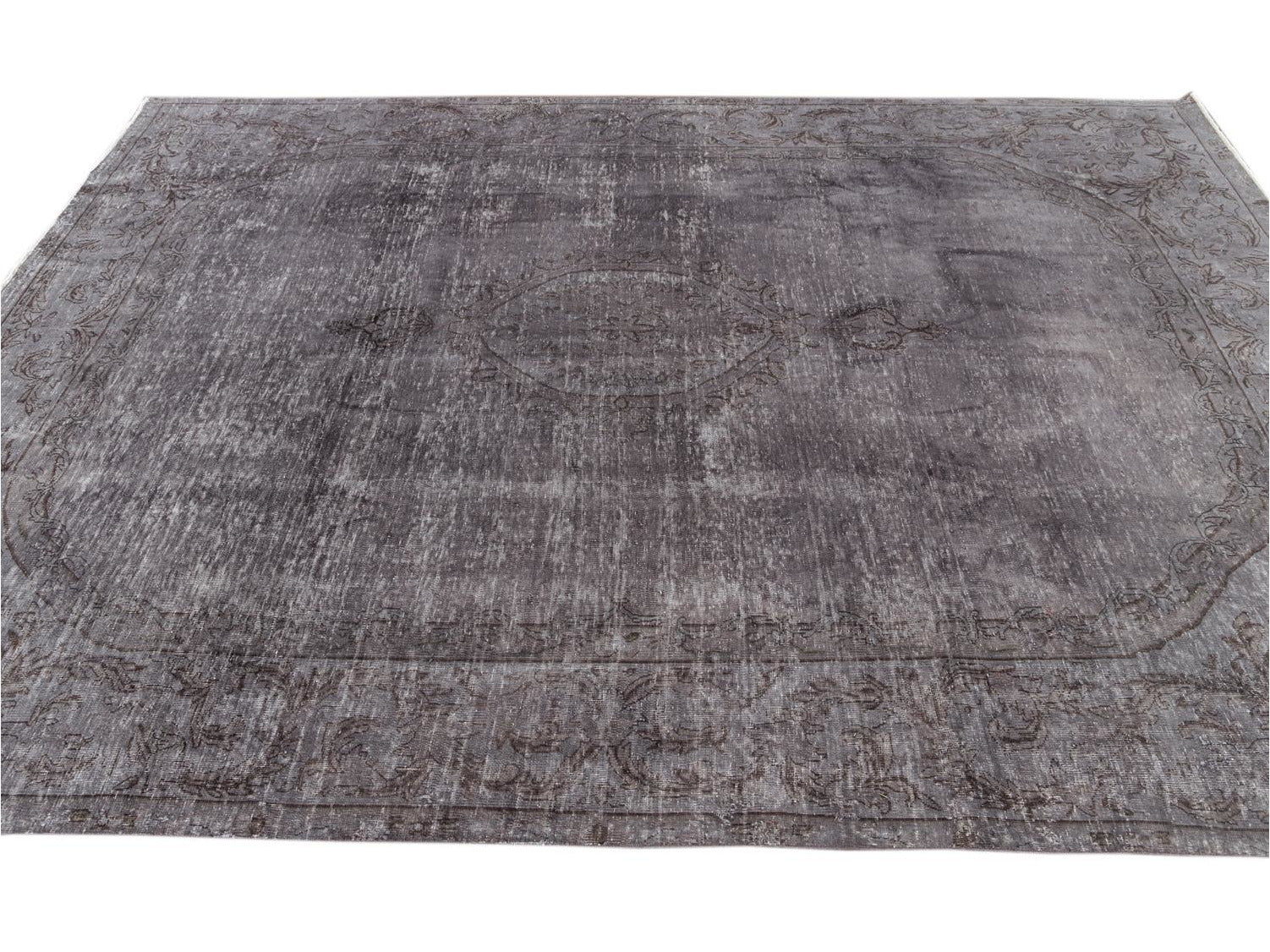 Mid 20th Century Vintage Distressed Wool Rug 7 X 10