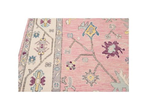21st Century Contemporary Modern Oushak Style Wool Rug 9 X 12