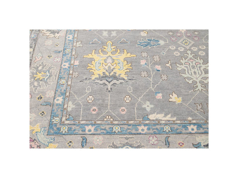 21st Century Contemporary Oushak Style Wool Rug 10 X 14