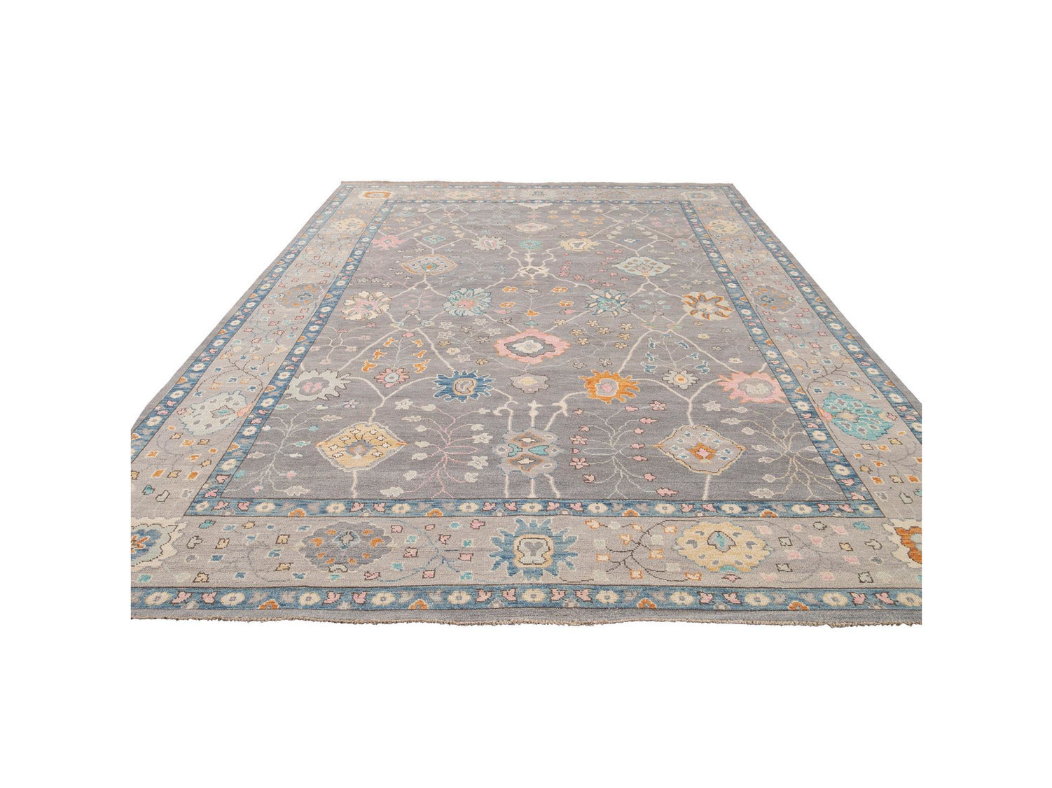 New  Contemporary Oushak Style Wool Rug 10 X 14