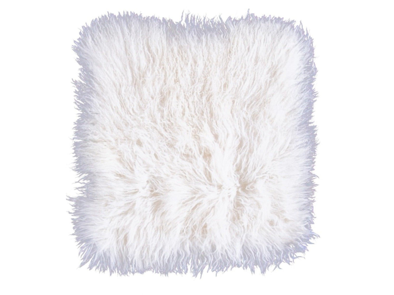 "Two White Tibetan Fur Cushion Pillow Cover 18"" X 18"""