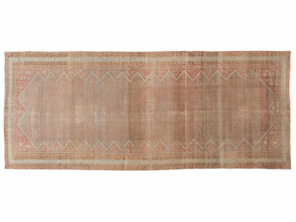 Antique Malayer Wool Runner 7 X 17
