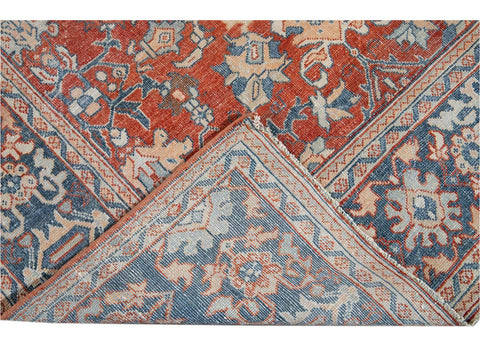 Antique Mahal Wool Rug 9 X 12