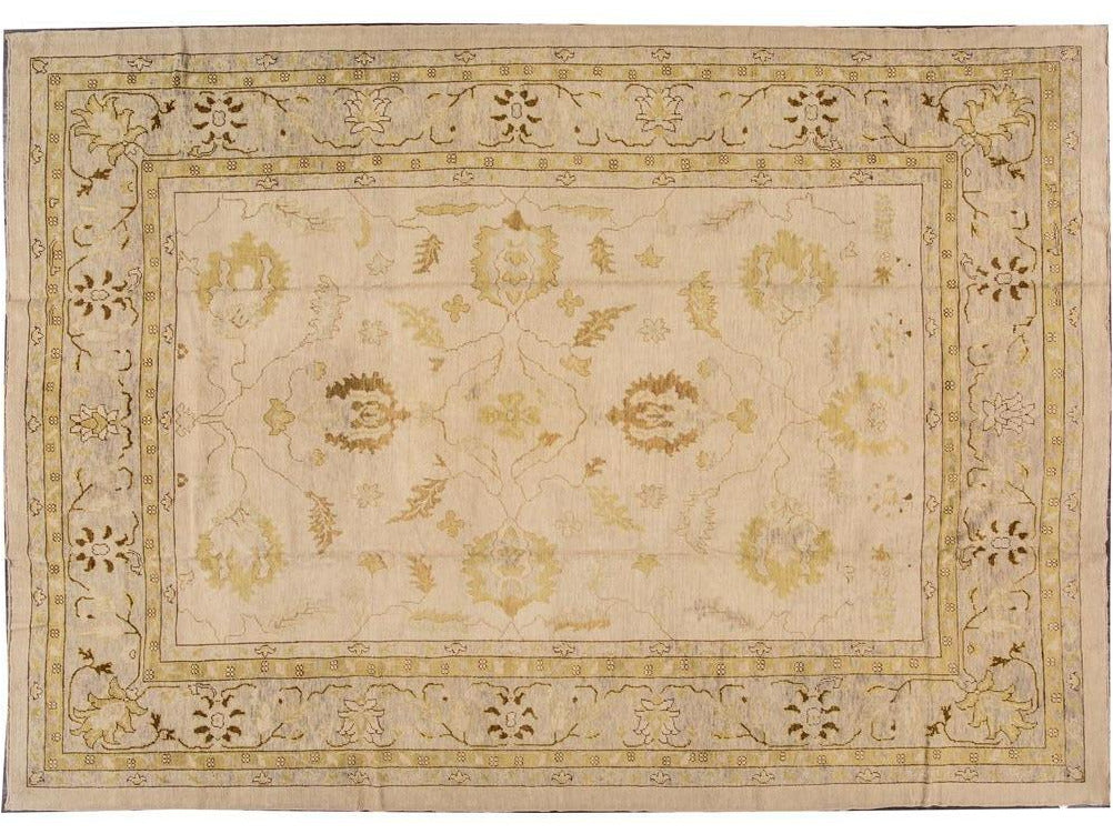 Modern Turkish Oushak Wool Rug 12 X 16