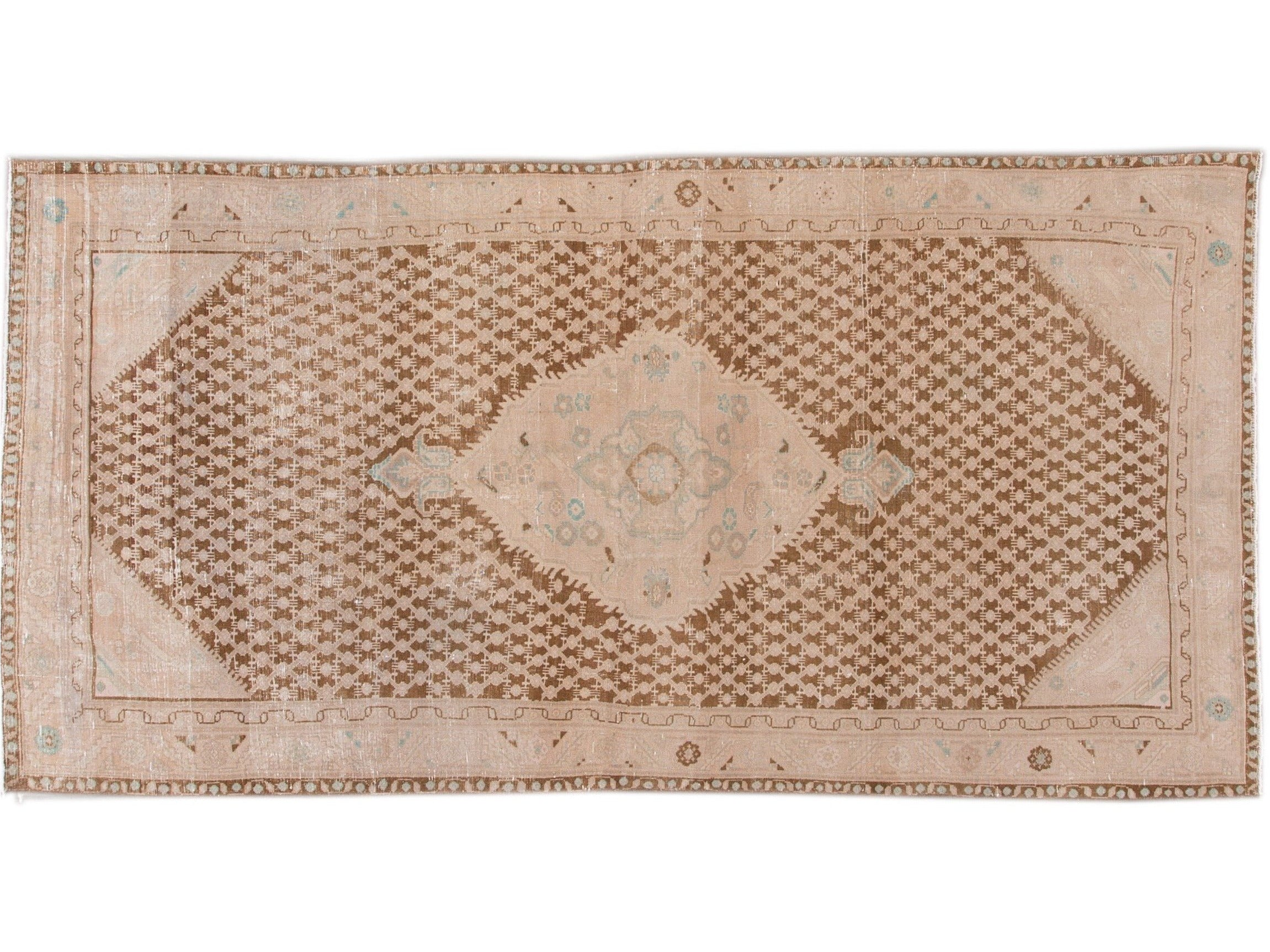 Antique Malayer Wool Runner 5 X 10