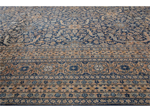 Breathtaking Antique Persian Tabriz Wool Rug 12 X 19