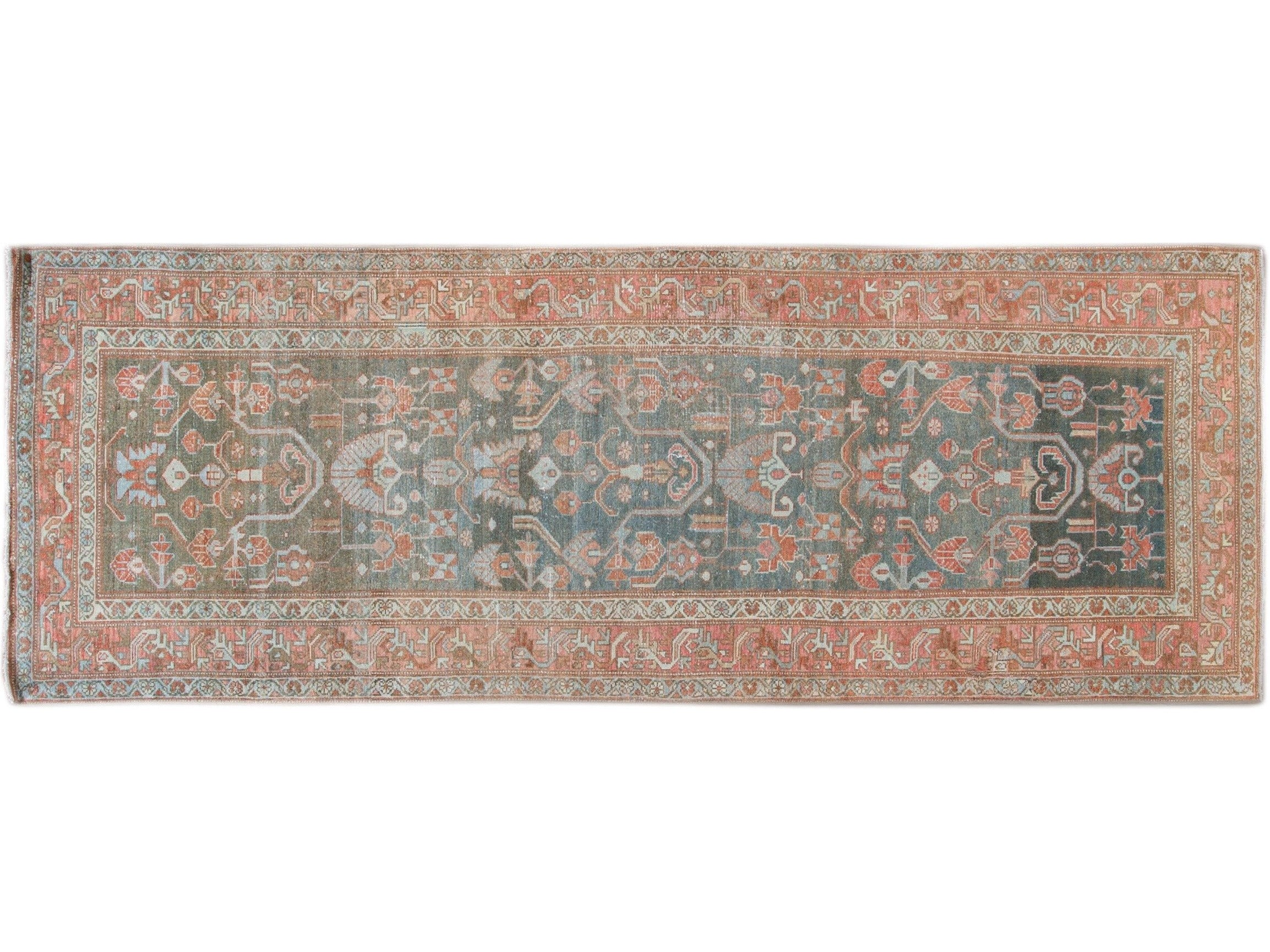 Antique Malayer Wool Runner 4 X 10