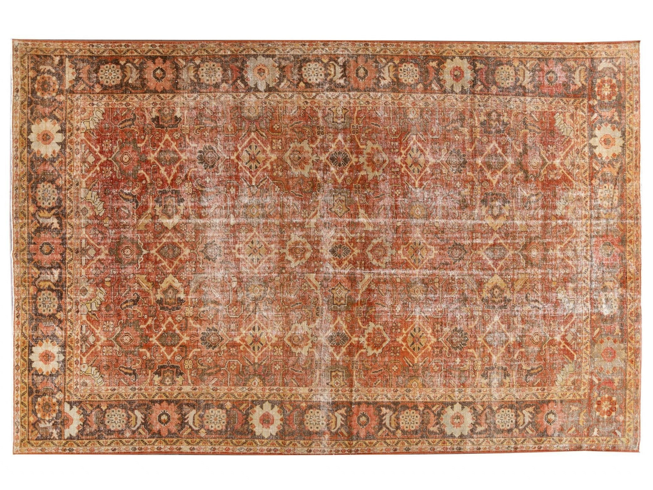 Antique Mahal Oversize Wool Rug 11 X 17