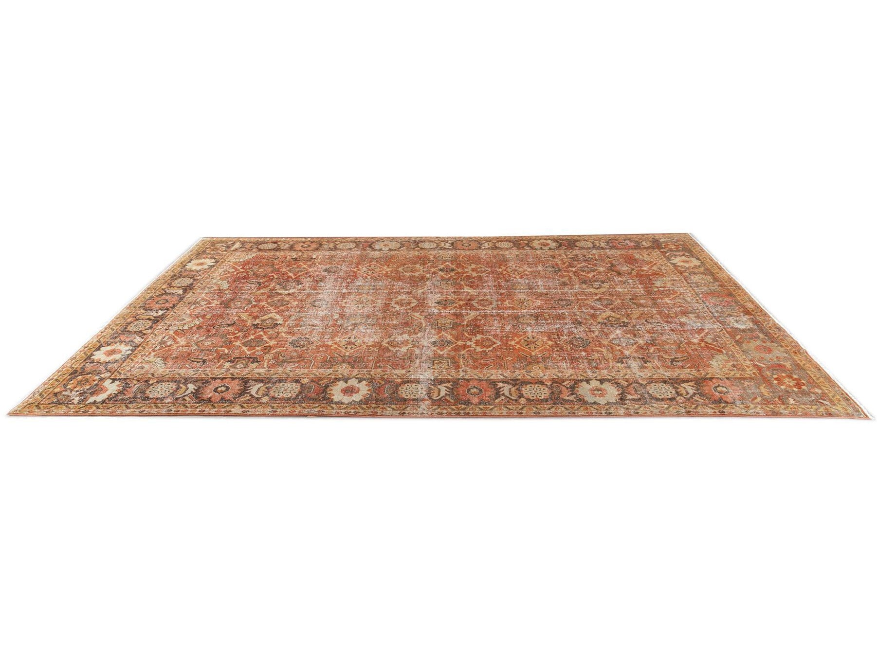 Early 20th Century Antique Mahal Oversize Wool Rug, 11' x 17'