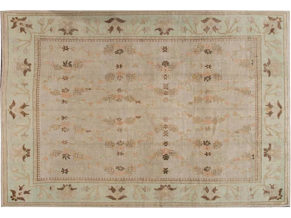 Modern Designed Turkish Oushak Rug 10 X 15