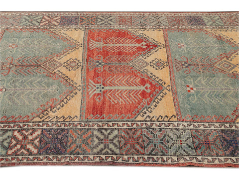 Early 20th Century Antique Anatolian Wool Runner Rug, 5 X 13
