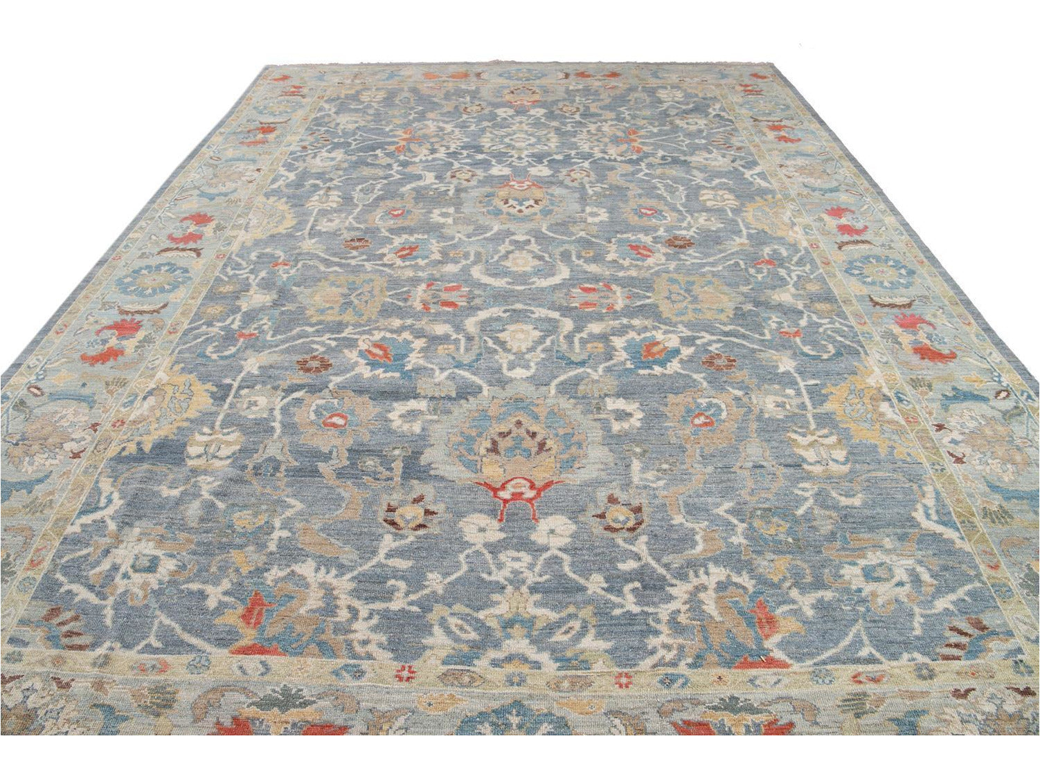 Modern Sultanabad Oversize Wool Rug 12 X 17