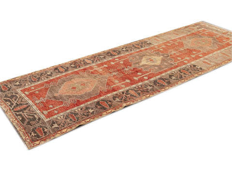 Early 20th Century Antique Anatolian Wool Runner Rug, 4' x 10'