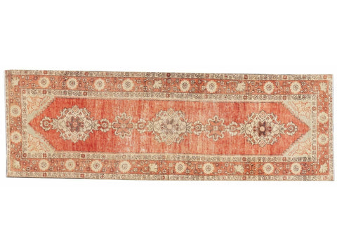 Early 20th Century Antique Anatolian Wool Runner Rug, 3 X 10
