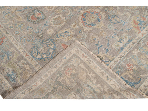 Modern Sultanabad Square Wool Rug 8 X 9