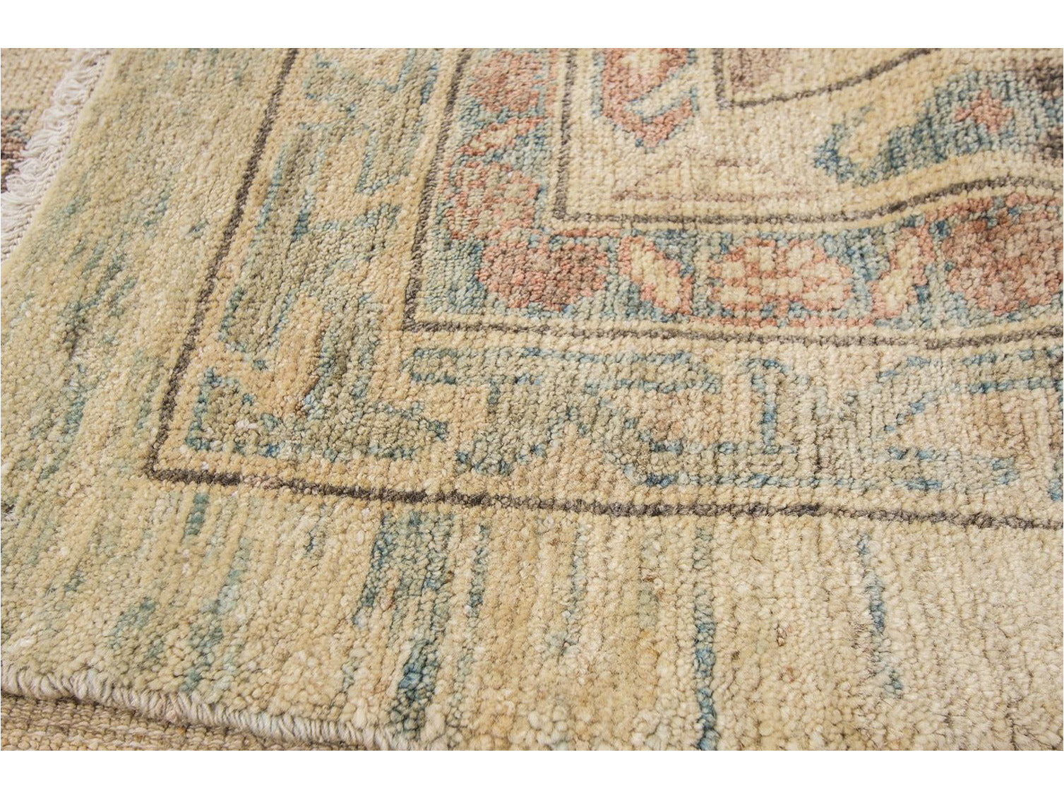 Contemporary Sultanabad Wool Rug 14 X 20