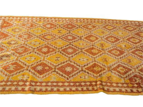 Mid 20th Century Vintage Moroccan Tribal Wool Rug 4 X 11