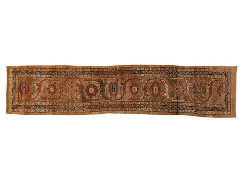 Late-20th Century Vintage Bakshaish Tribal Wool Runner Rug 3 X 14