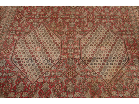 Antique Tabriz Wool Rug 7 X 10
