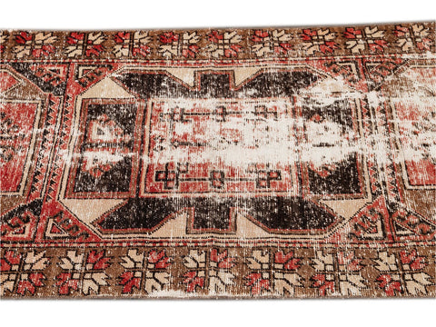 Early 20th Century Antique Anatolian Wool Runner Rug, 3' x 10'