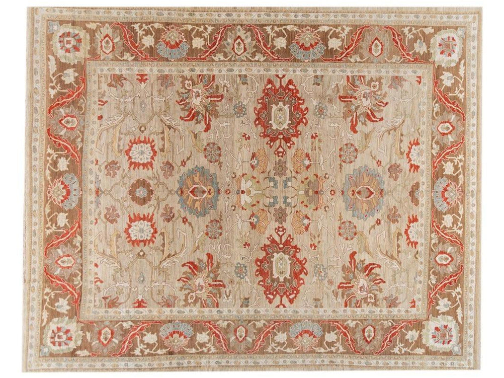 Contenporary Sultanband Design Wool Rug 14 X 18