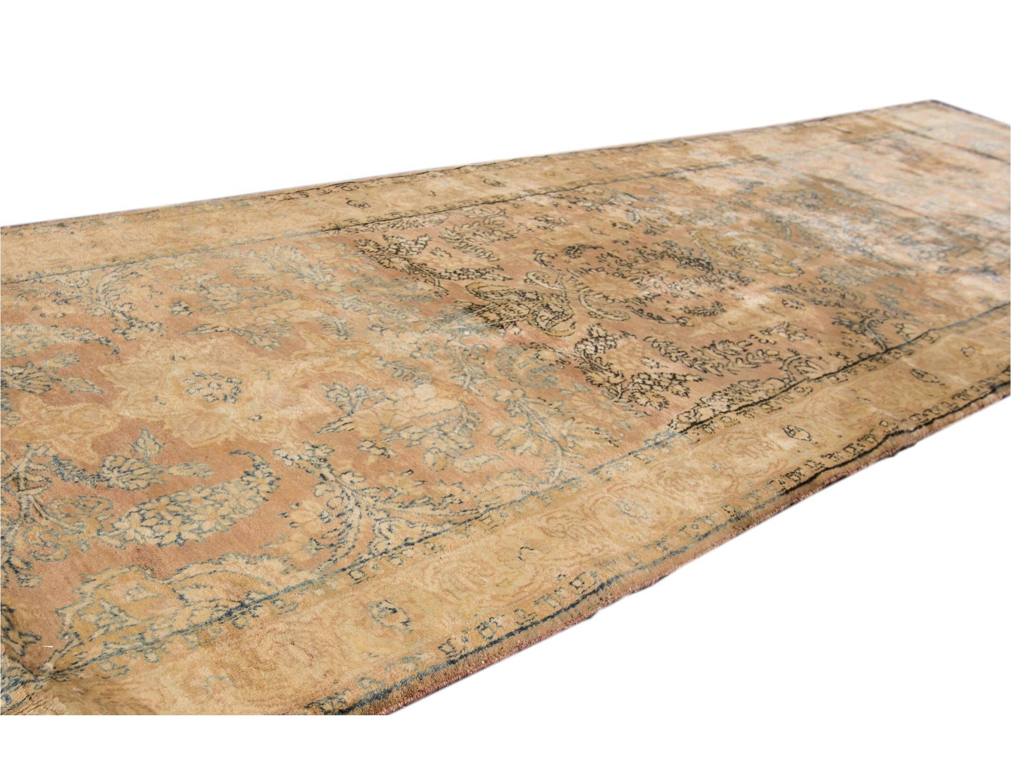 Early 20th Century Antique Persian Kerman Wool Runner, 3 X 21