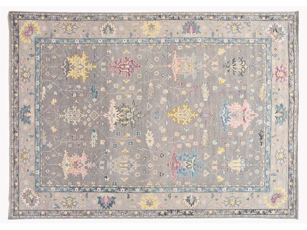 21st Century Contemporary Modern Oushak Style Wool Rug 10 X 14