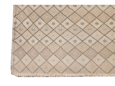 Vintage Art Deco Wool Runner 4 X 9