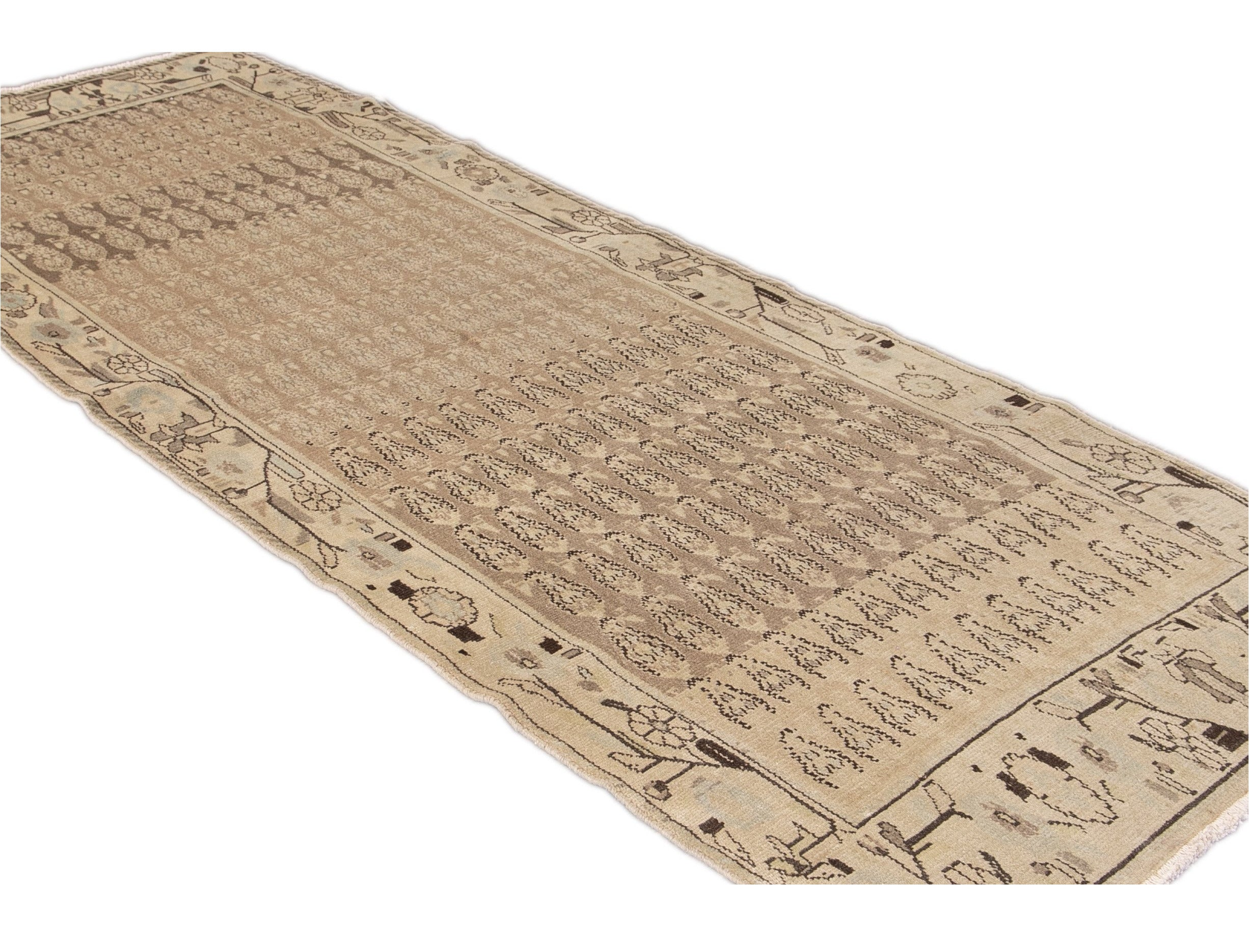 Antique Malayer Wool Runner 4 X 9