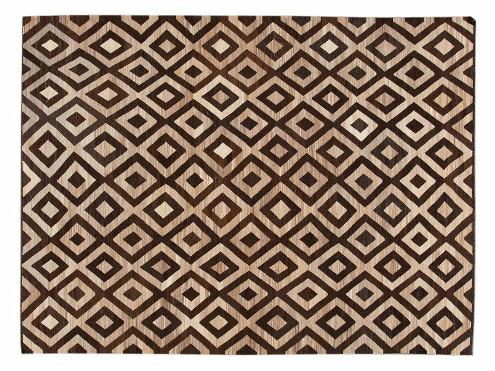 21st Century Contemporary Turkish Kilim Wool Rug 10 X 14