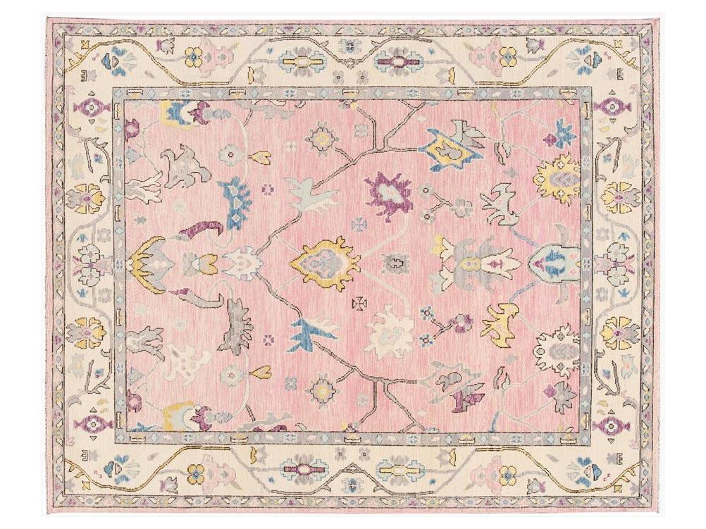 21st Century Contemporary Modern Oushak Style Wool Rug 8 X 10