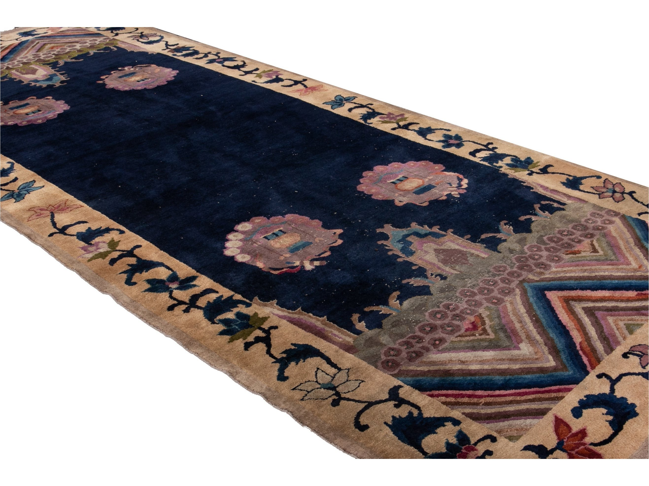 Antique Art Deco Chinese Rug 6 X 14