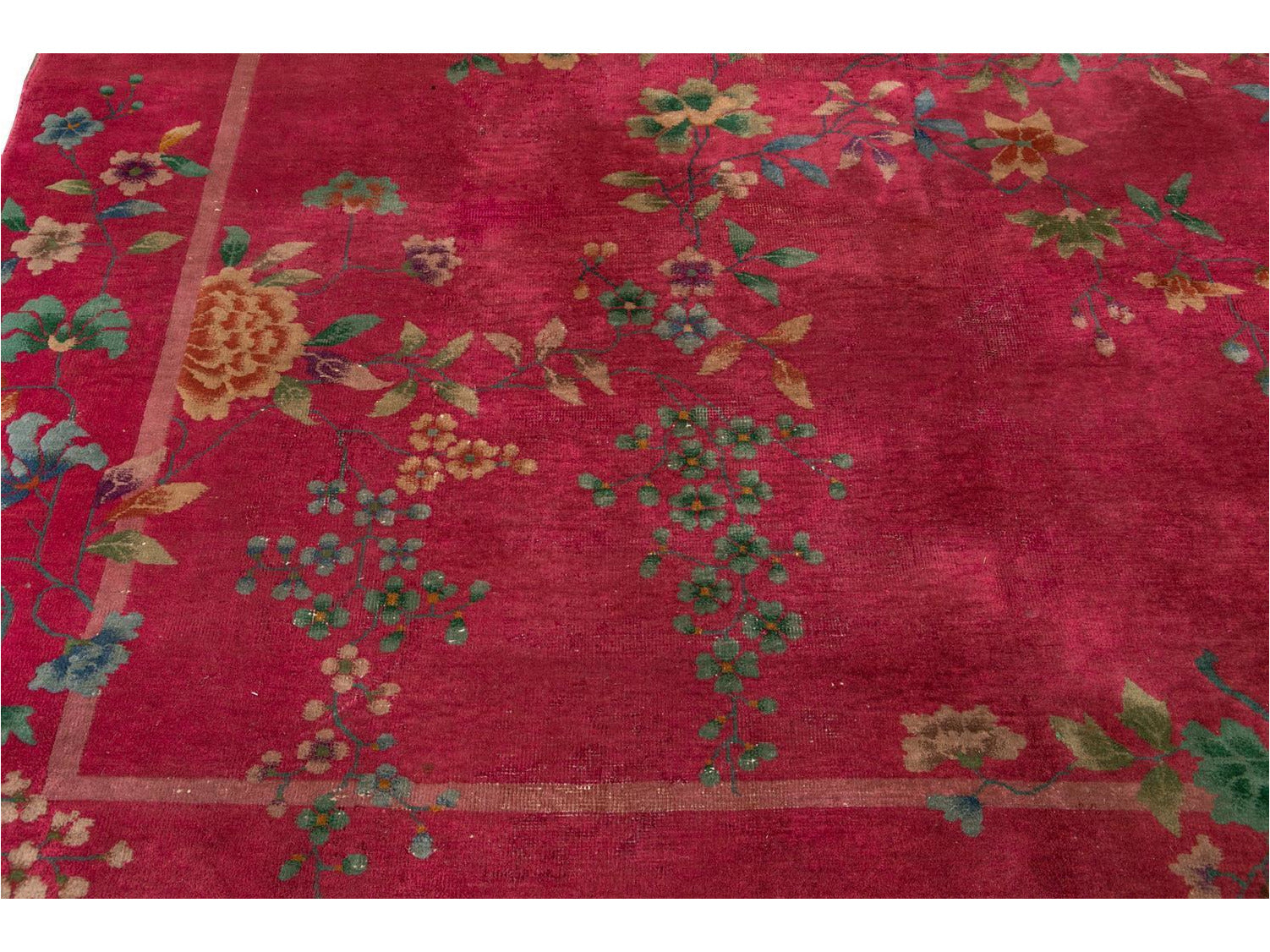 Antique Art Deco Chinese  Rug 9 X 11