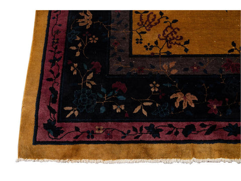 Early 20th Century Antique Art Deco Chinese Rug 9 X 11
