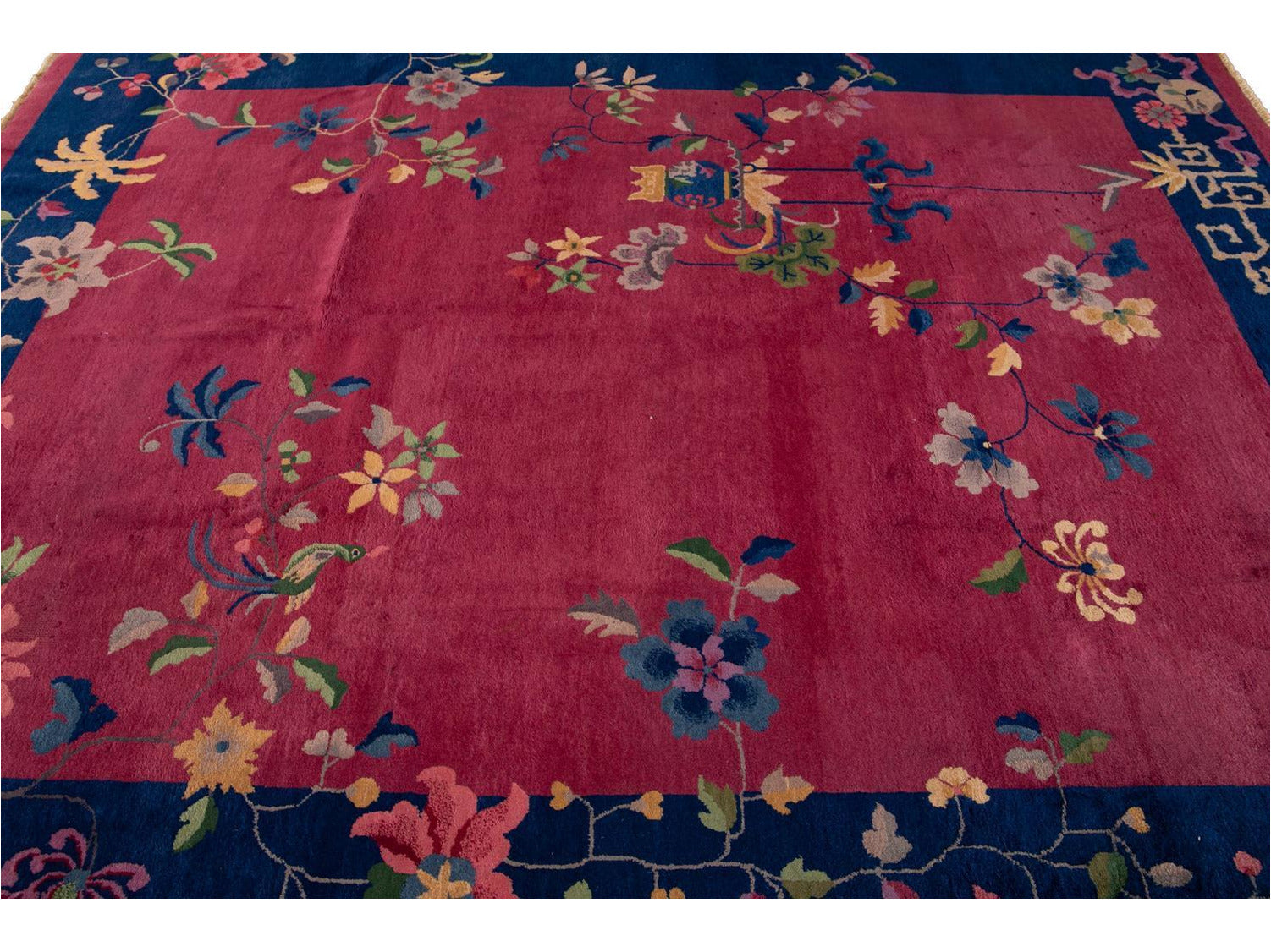 Antique Art Deco Chinese Wool Rug 8 X 10