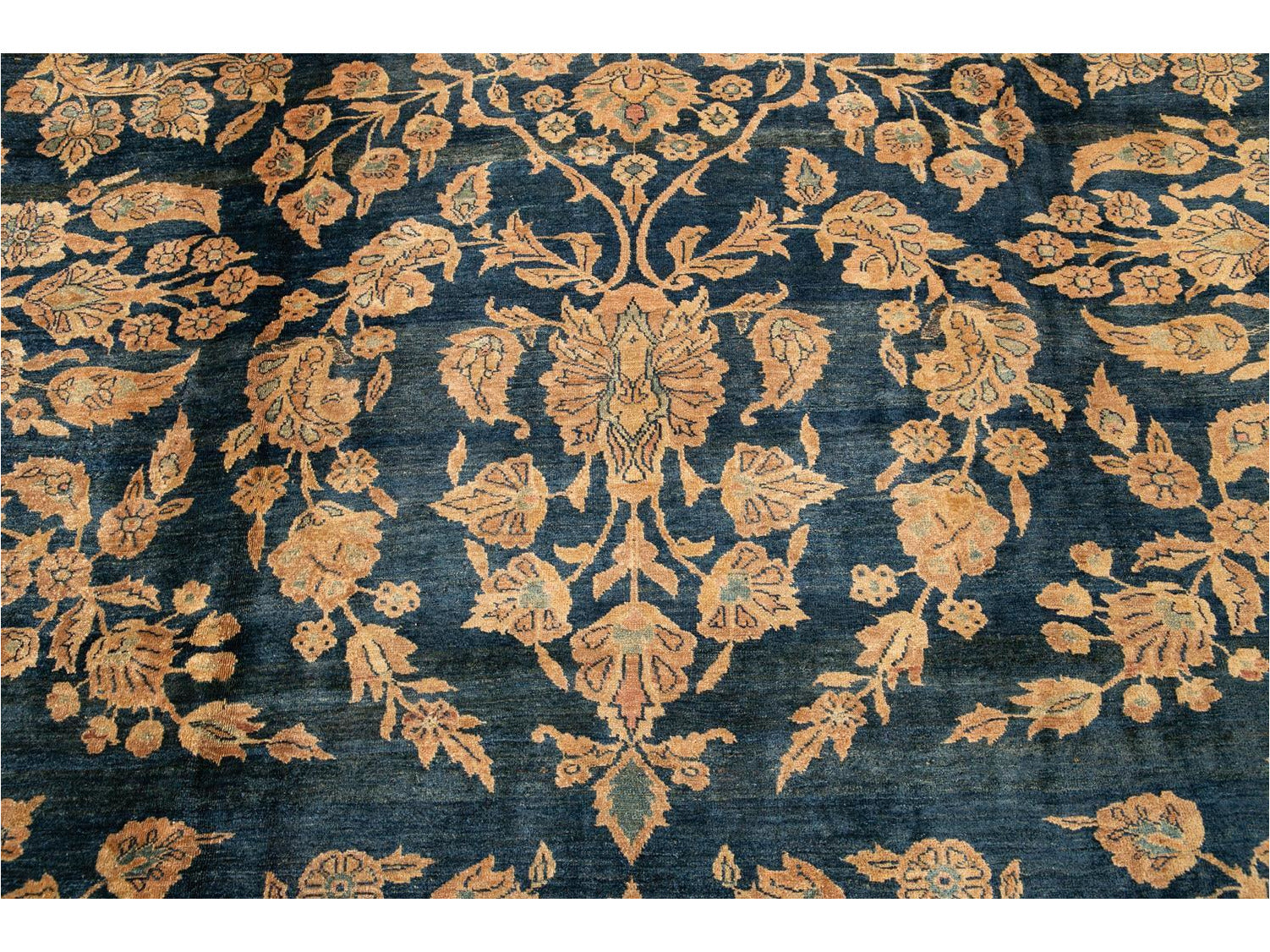 Early 20th Century Antique Sarouk Rug 10 X 17