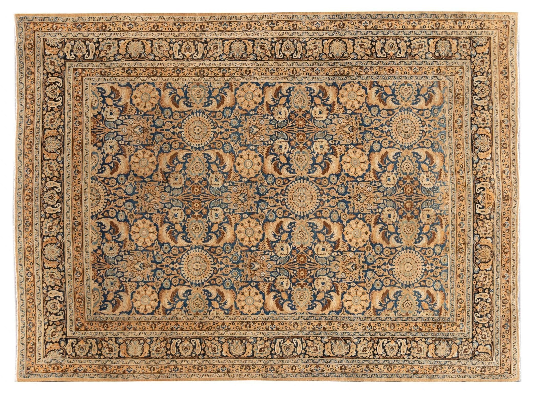 Early 20th Century Antique Tabriz Wool Rug, 10' x 13